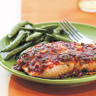 Chili-Garlic Glazed Salmon.
