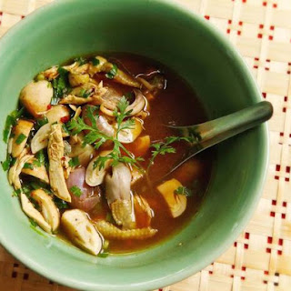 Yum Jin Gai (Spicy Northern Thai-Style Chicken Soup).