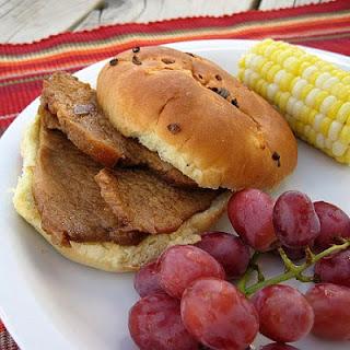 Tangy Sliced Pork Sandwiches Recipe