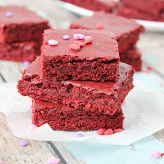 Red Velvet Brownies Bites
