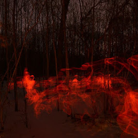 red smoke monster.. by Jay Anderson - Abstract Light Painting