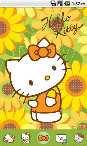 Hello Kitty Sunflowers Theme