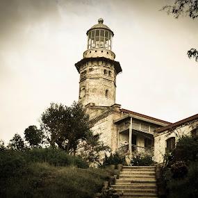The Historical Cape Bojeador Lighthouse by Ryan Hortizuela - Buildings & Architecture Public & Historical ( old, lighthouse, historical, heritage )