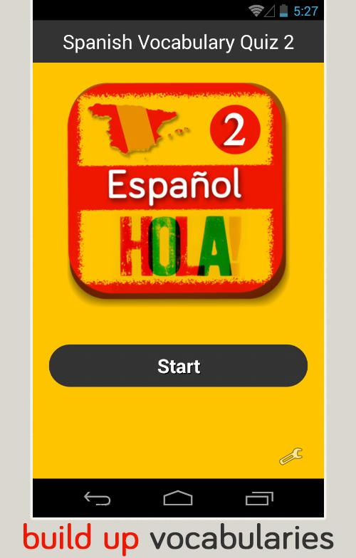 Spanish Vocabulary Quiz 2 - screenshot