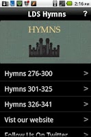 Screenshot of LDS Hymns