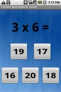 Math Wizard Lite- screenshot thumbnail