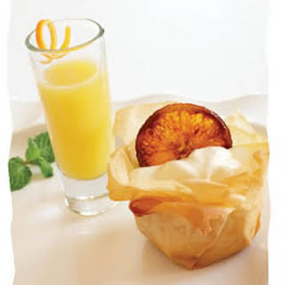 Orange Mousse in Phyllo Baskets with Citrus Punchsietta.