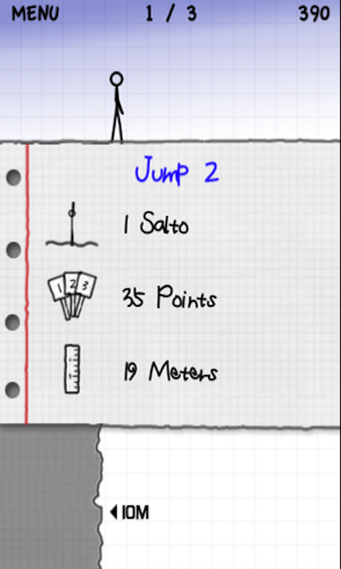 Stickman Cliff Diving- screenshot