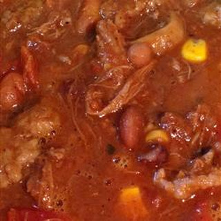 Chili With Pulled Beef & Pork for a Crowd
