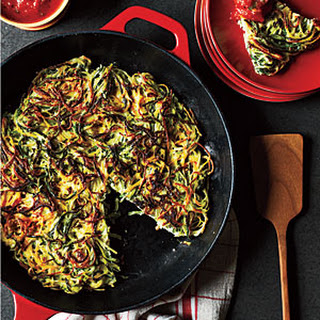 Zucchini Angel Hair Pancake