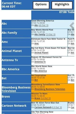 TV Listings Guide - screenshot
