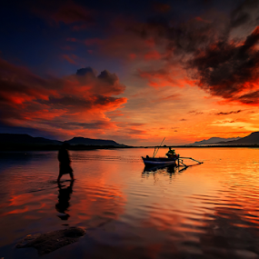Waiting the Husben by Gus Mang Ming - Landscapes Sunsets & Sunrises (  )