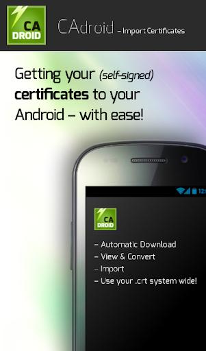 CAdroid – Import Certificates