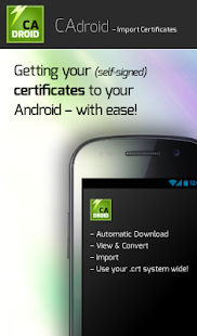 CAdroid – Import Certificates - screenshot thumbnail