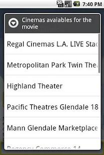 Cinema Movies Showtimes - screenshot thumbnail