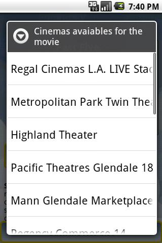 Cinema Movies Showtimes- screenshot
