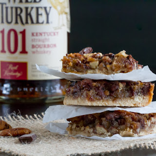 Pecan Bars with Chocolate & Bourbon