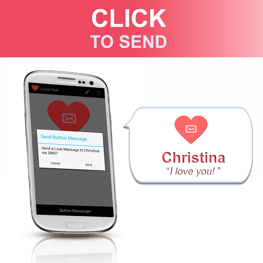 SMS Button Messenger - LOVE - screenshot