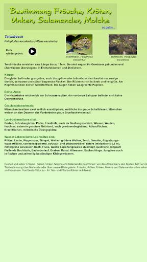 免費下載教育APP|Bestimmung Frösche, Kröten... app開箱文|APP開箱王