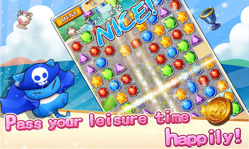 Jewel Pirates - Puzzle game - screenshot