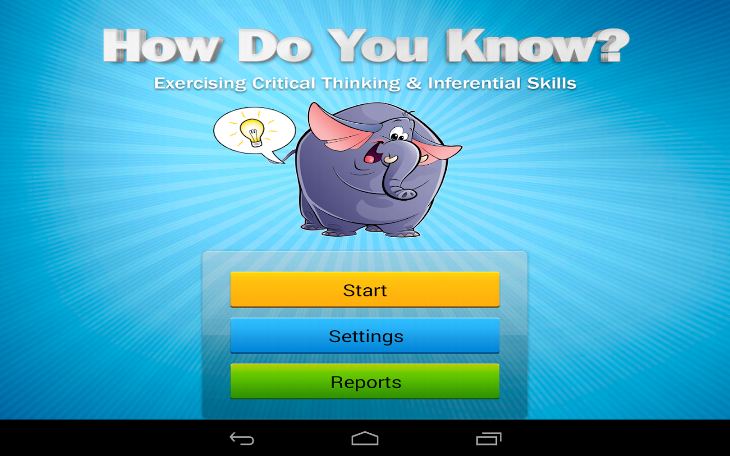 How Do You Know? app- screenshot