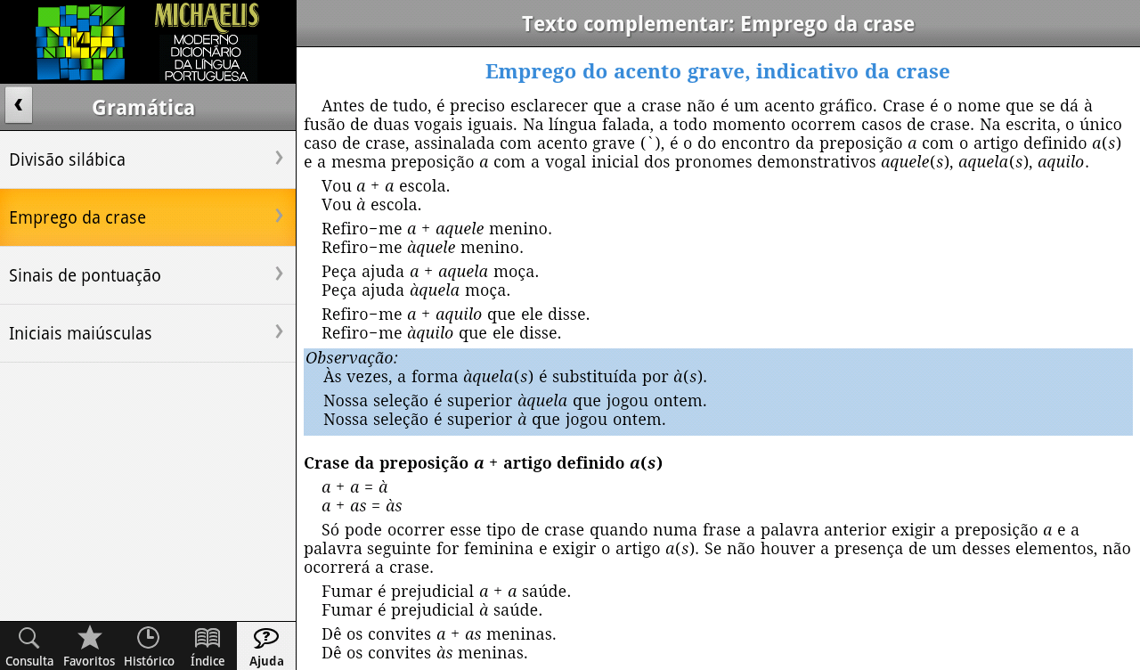 Dicionário Michaelis Português- screenshot