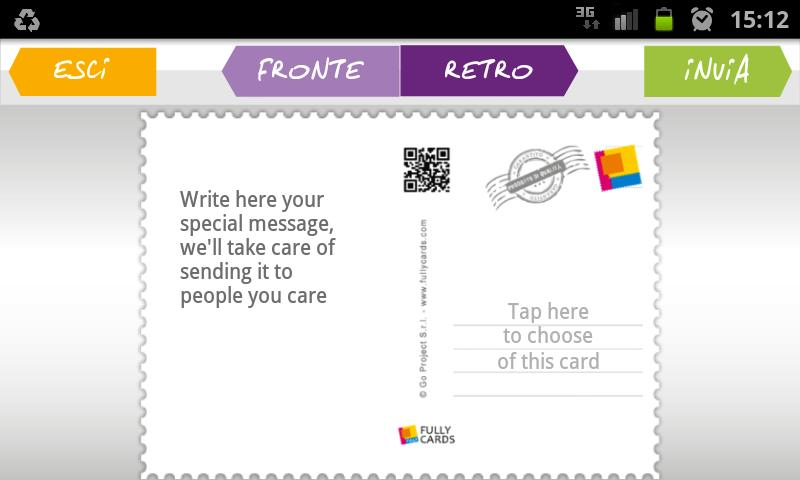 Fully Cards - Postcards - screenshot
