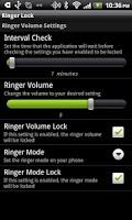 Screenshot of Ringer Lock
