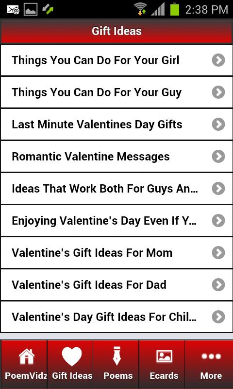 Valentines Day Ideas - screenshot