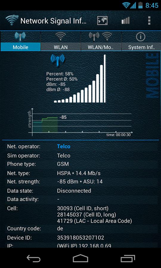 Network Signal Info - screenshot