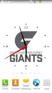 GWS Giants Analog Clock- screenshot thumbnail