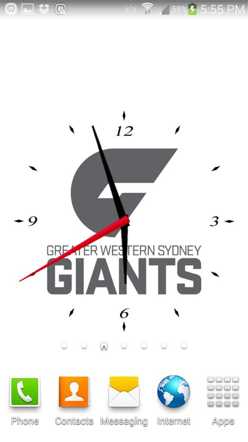 GWS Giants Analog Clock- screenshot