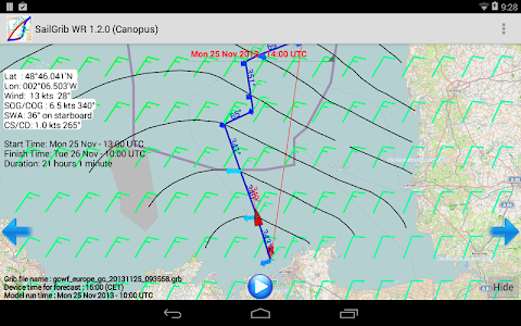 SailGrib WR - Weather Routing v1.9.1