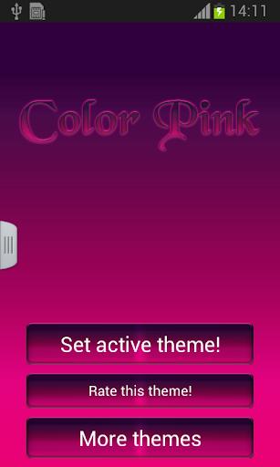 キーボードカラーピンク·テーマ