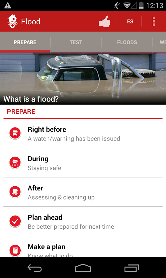 Flood - American Red Cross - screenshot