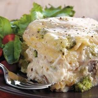 Slow Cooker Chicken Broccoli Lasagna