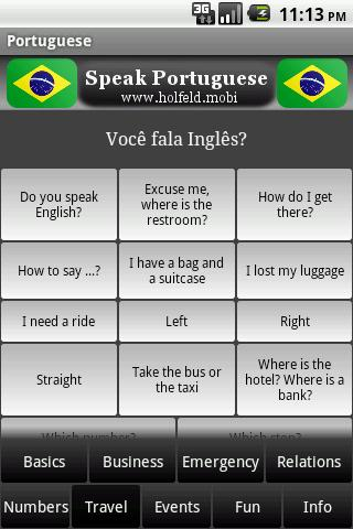 Speak Portuguese - screenshot