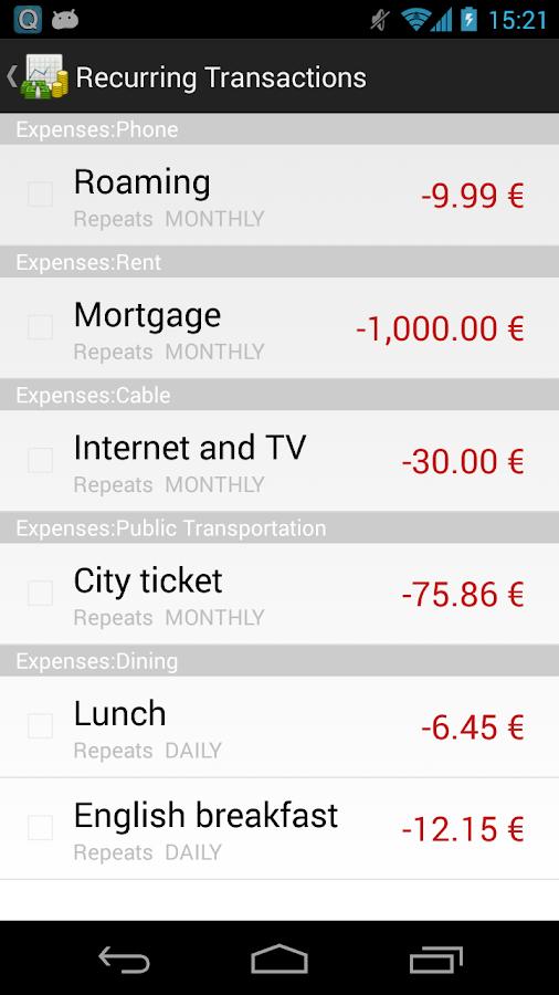 GnuCash - screenshot