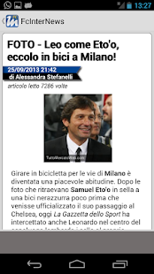 Fc Inter News - screenshot thumbnail