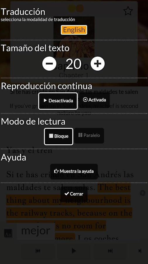Read in Spanish: Una palabra..- screenshot