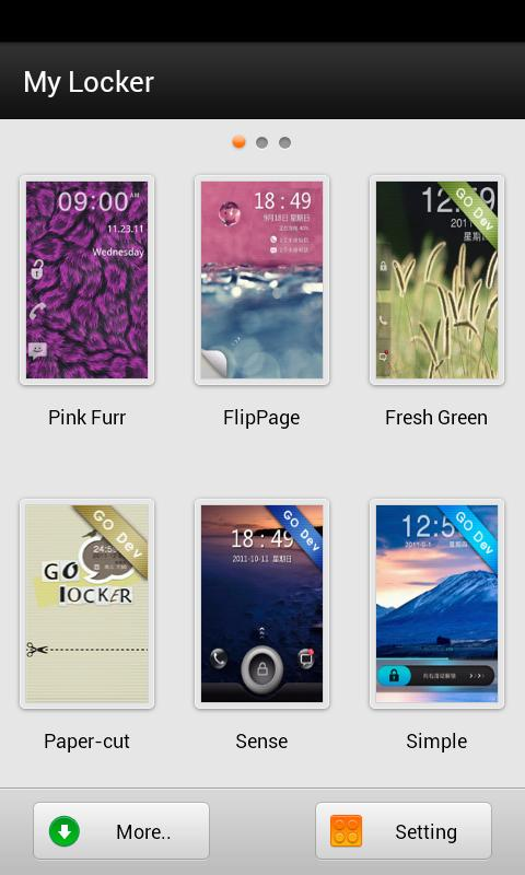 GO Locker- Pink Fur Theme- screenshot