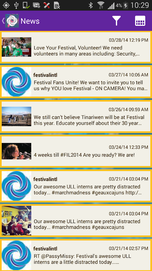 Festival International - screenshot