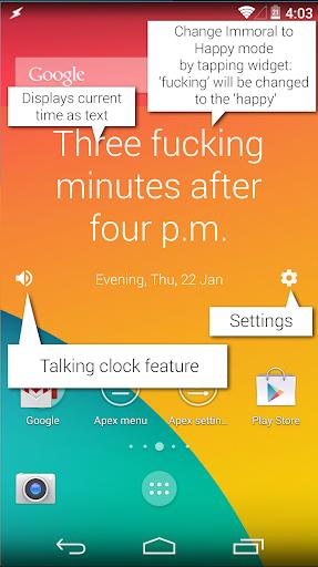 Immoral Clocks Widget
