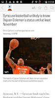 Screenshot of syracuse.com: SU Hoops News