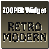 RetroModern Clock Zooper Theme