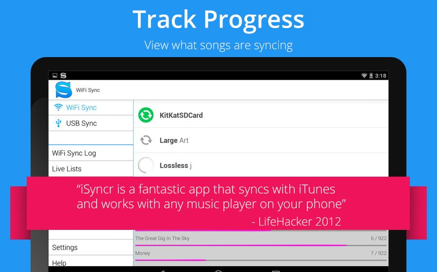 iSyncr for iTunes- screenshot