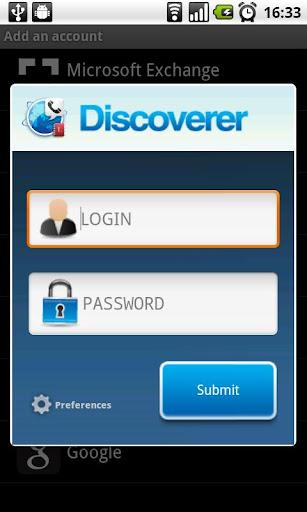 Contact Discoverer Beta