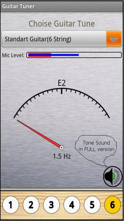 Free Guitar Tuner - screenshot