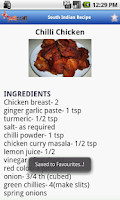 Screenshot of South Indian Recipe