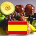 Spanischen Wortschatz Früchte icon